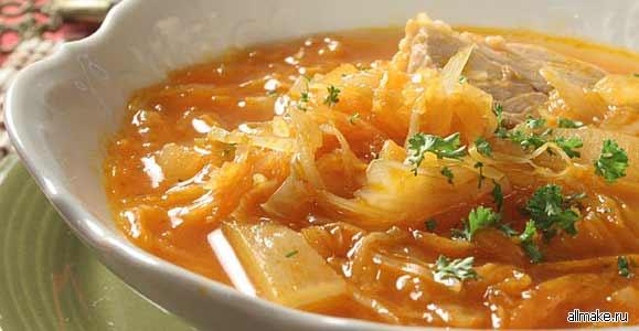 Рецепт вкусных щей из квашеной капусты