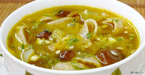 Как приготовить грибной суп рецепт с фото