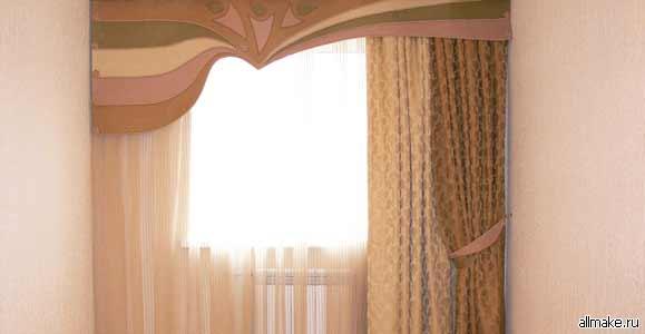 Выкройка ламбрекена для штор