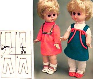 Как сшить одежду колготки на куклу
