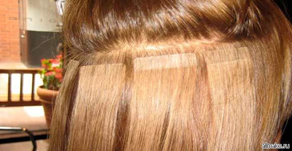 Ленточное наращивание волос: