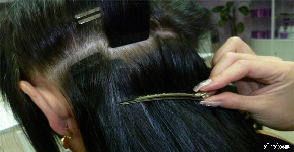 Ленточное наращивания волос уроки